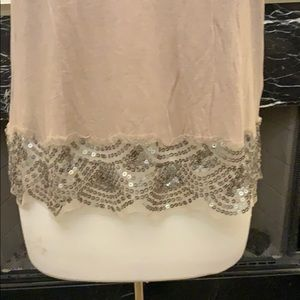 American Eagle Outfitters Tops - NWOT American Eagle beige tank w/ sequined trim
